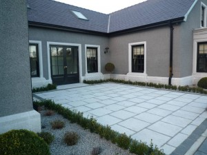 600x600 silver granite patio flags and edging kerbs