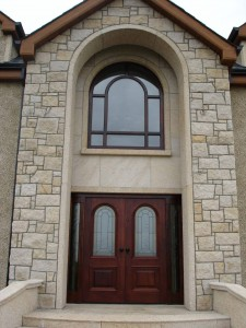 golden granite door/window surround