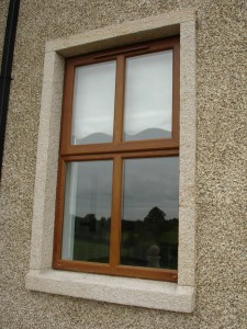 Golden granite window surround