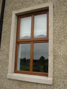Golden granite window surround