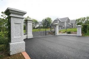 Silver granite Pillars and walls
