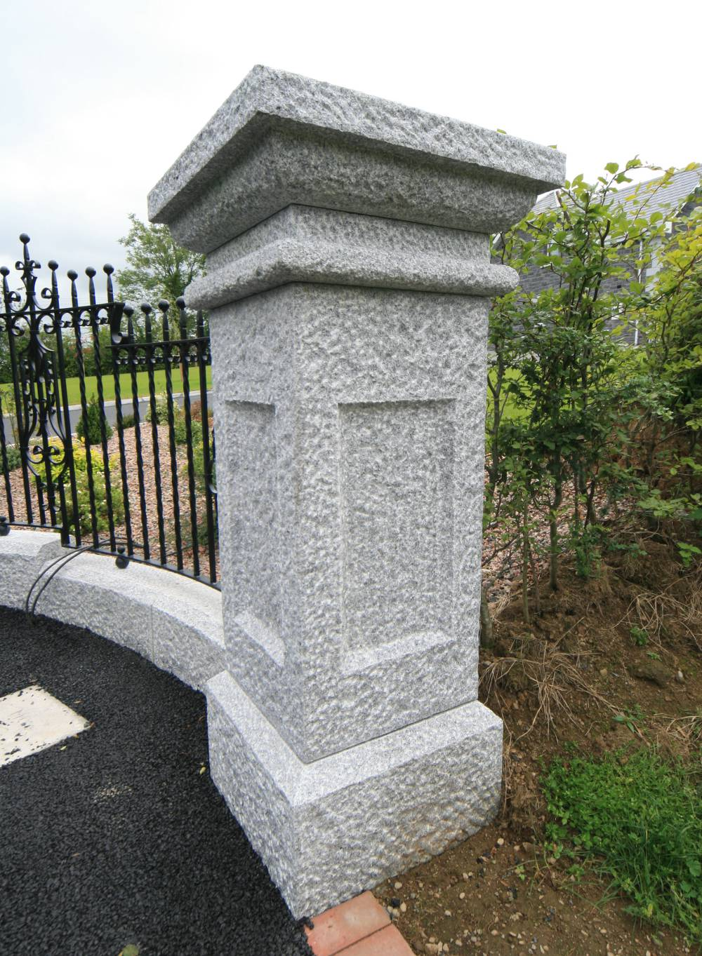 Grey Stone Pillars : Granite pillar gates creggan ireland