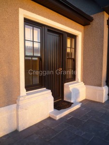 Chamfered door surround