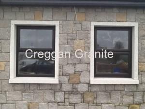 Silver-grey granite window surround
