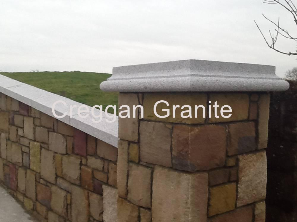 Wall Coping Pier Caps Creggan Granite Ireland