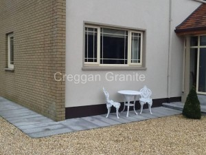 SIlver-grey granite paving 1mx350mm