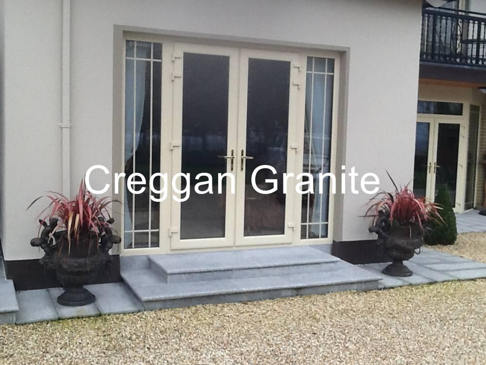 Silver Grey Granite Patio Door Step