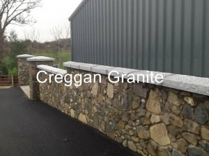 Silver grey granite wall coping