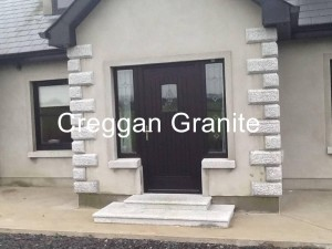 Silver-grey granite step
