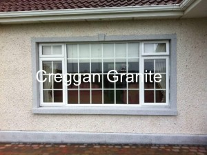 Silver-grey granite window surround