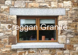 Silver grey granite heads and sills