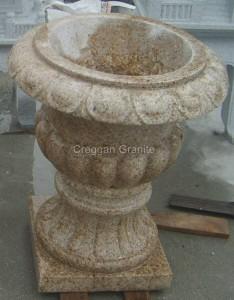 Golden granite flower pot
