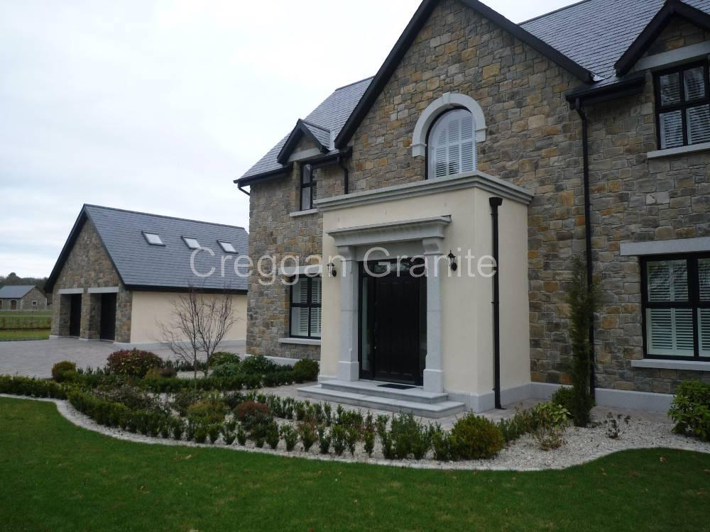 Canopy door surround in silver-grey granite & Door Surrounds / Arches - Creggan Granite Ireland - Creggan ...