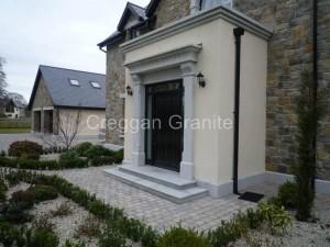 Silver-grey bullnosed granite steps and riser